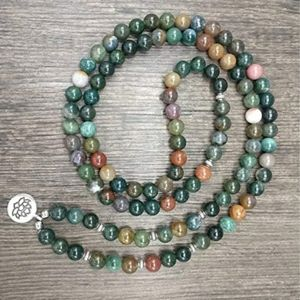 Jewelry - Indian Agate mala bead necklace